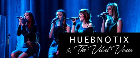 HUEBNOTIX & The Velvet Voices Logo